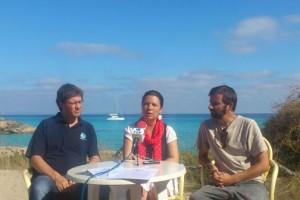 Rueda de prensa en Formentera