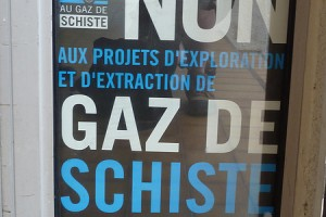 Cartel contra el fracking en Francia.