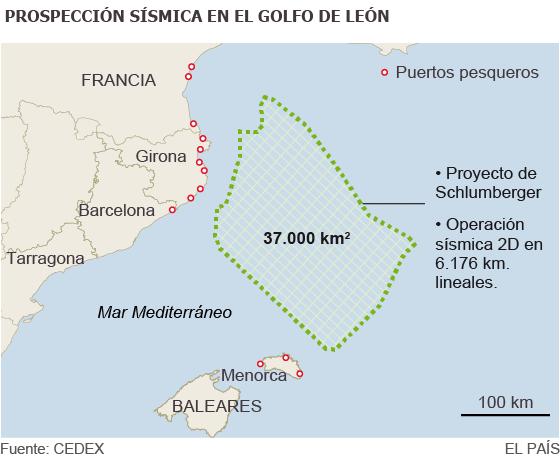 Prospección sísmica en el Golfo de León / EFE