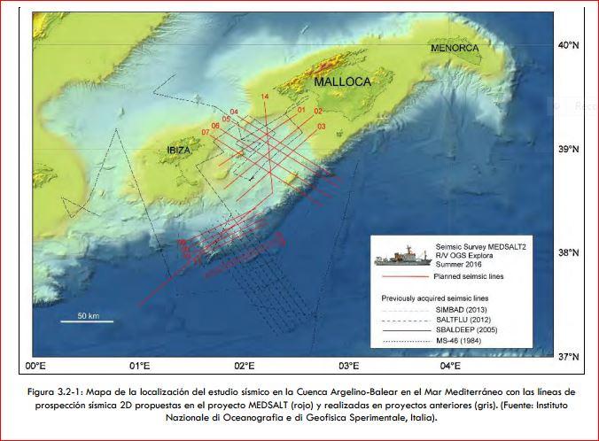 160428 Mapa de la localizacion del estudio sismico en la Cuenca Argelino-Balear